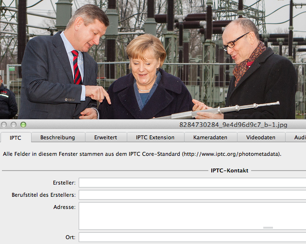 Metadaten vom Pressefoto weg - Original von Rudolph-Kramer für WEMAG