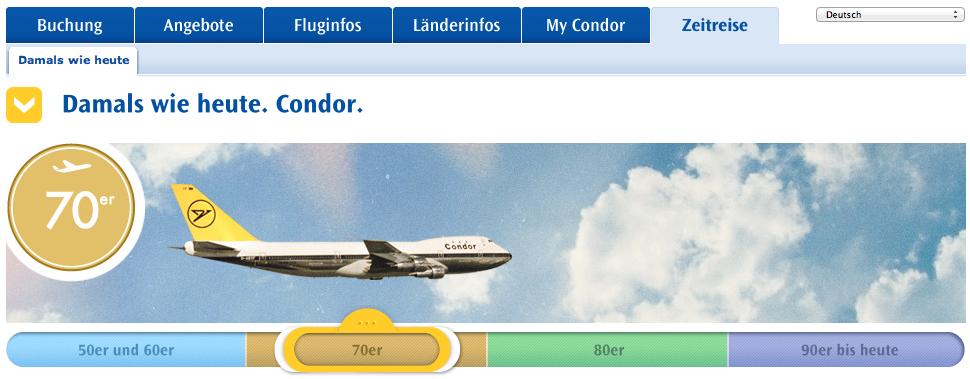 Condor Zeitreise