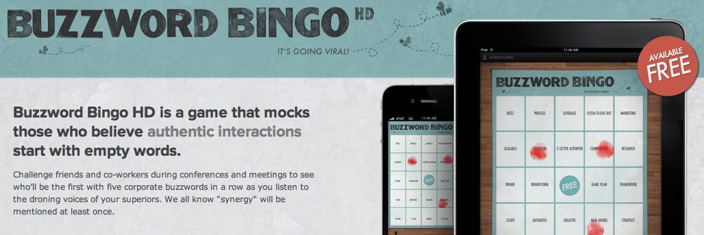 Buzzword Bingo als App